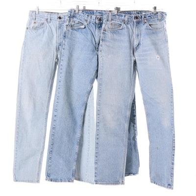 Vintage Orange Tab Levi's 505 Jeans