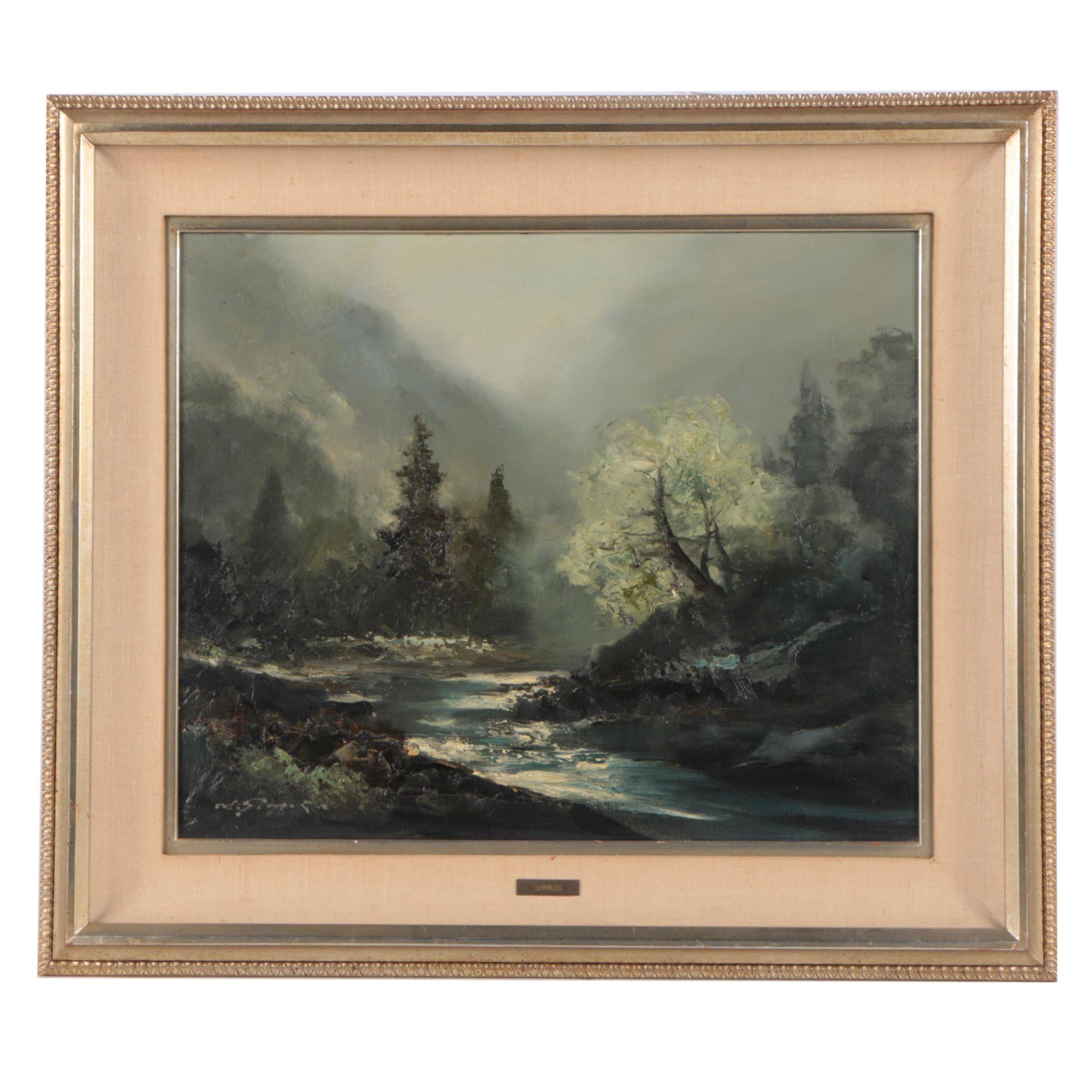 Mitsuzo Shimizu Oil on Canvas Landscape Painting