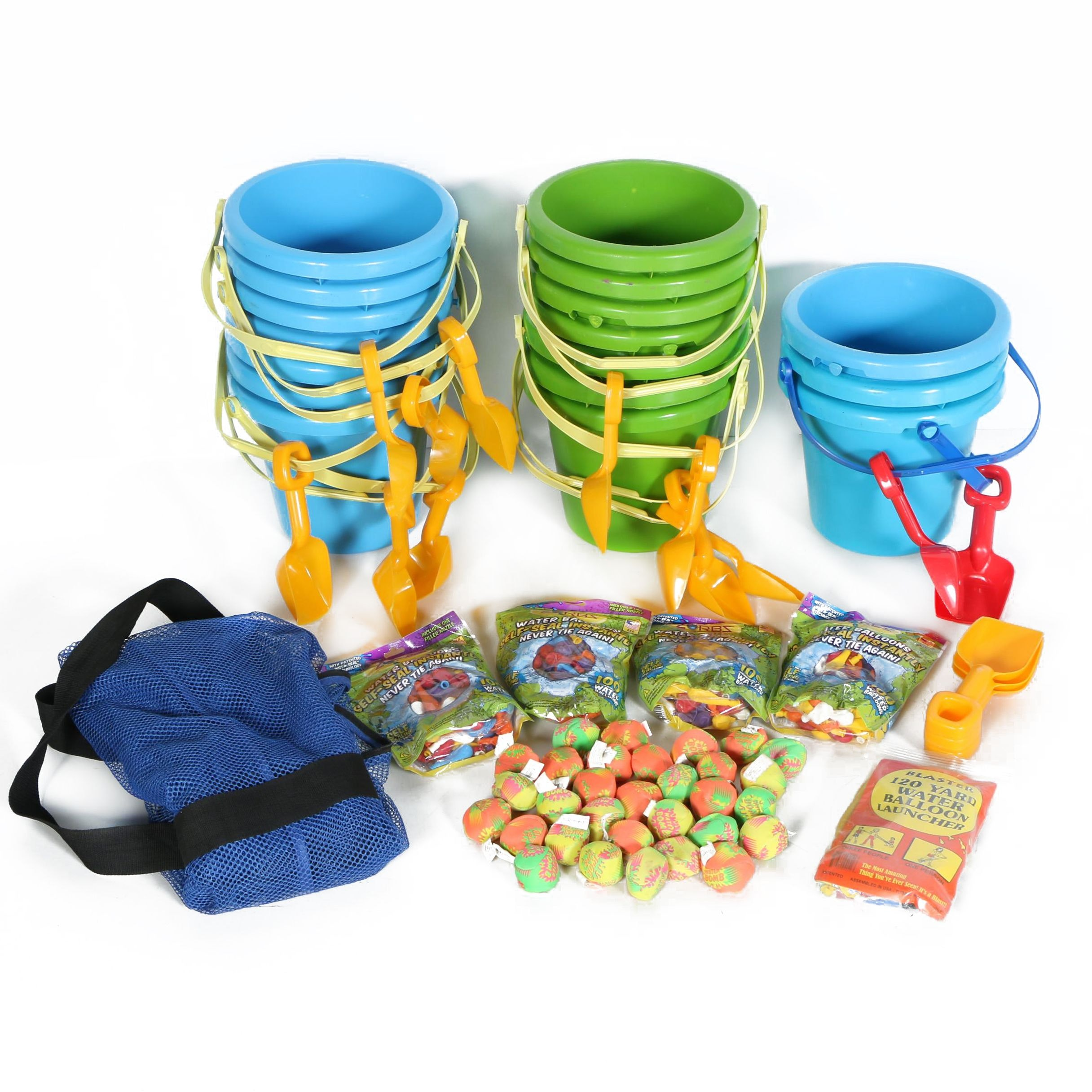 Beach and Outdoor Toys Including Water Balloons