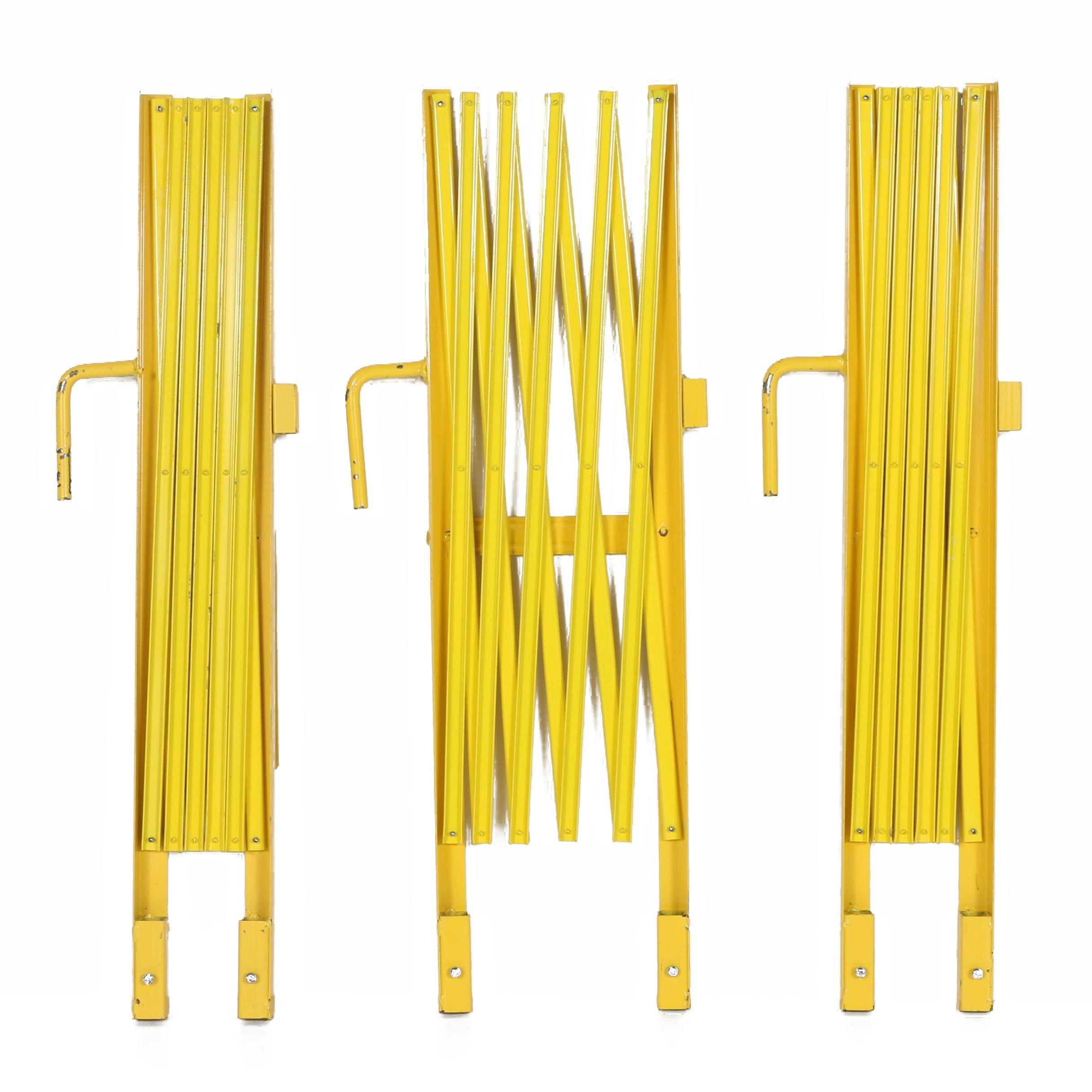 Yellow Collapsible Metal Gates