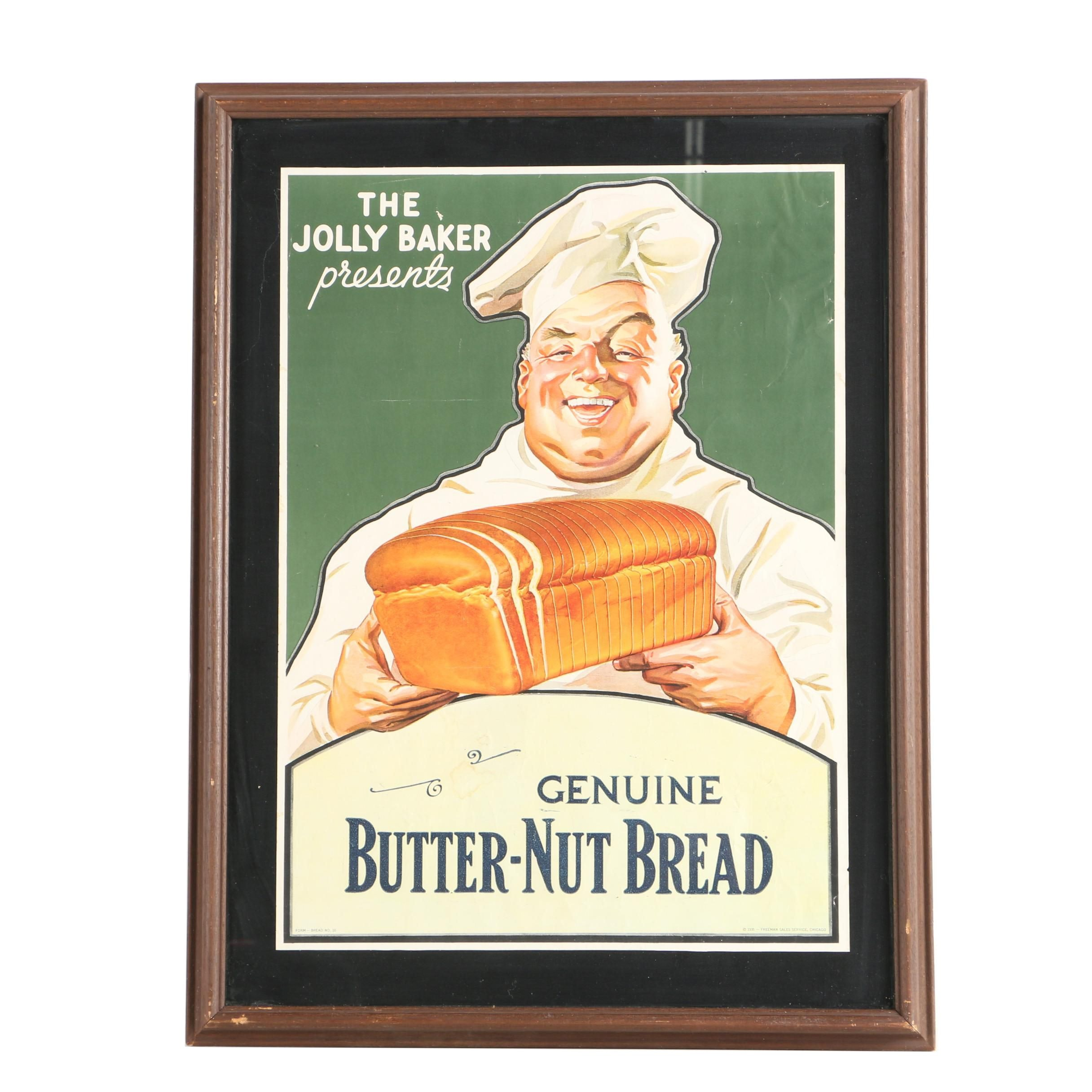 1935 Offset Lithograph on Paper Advertisement for Butter-Nut Bread