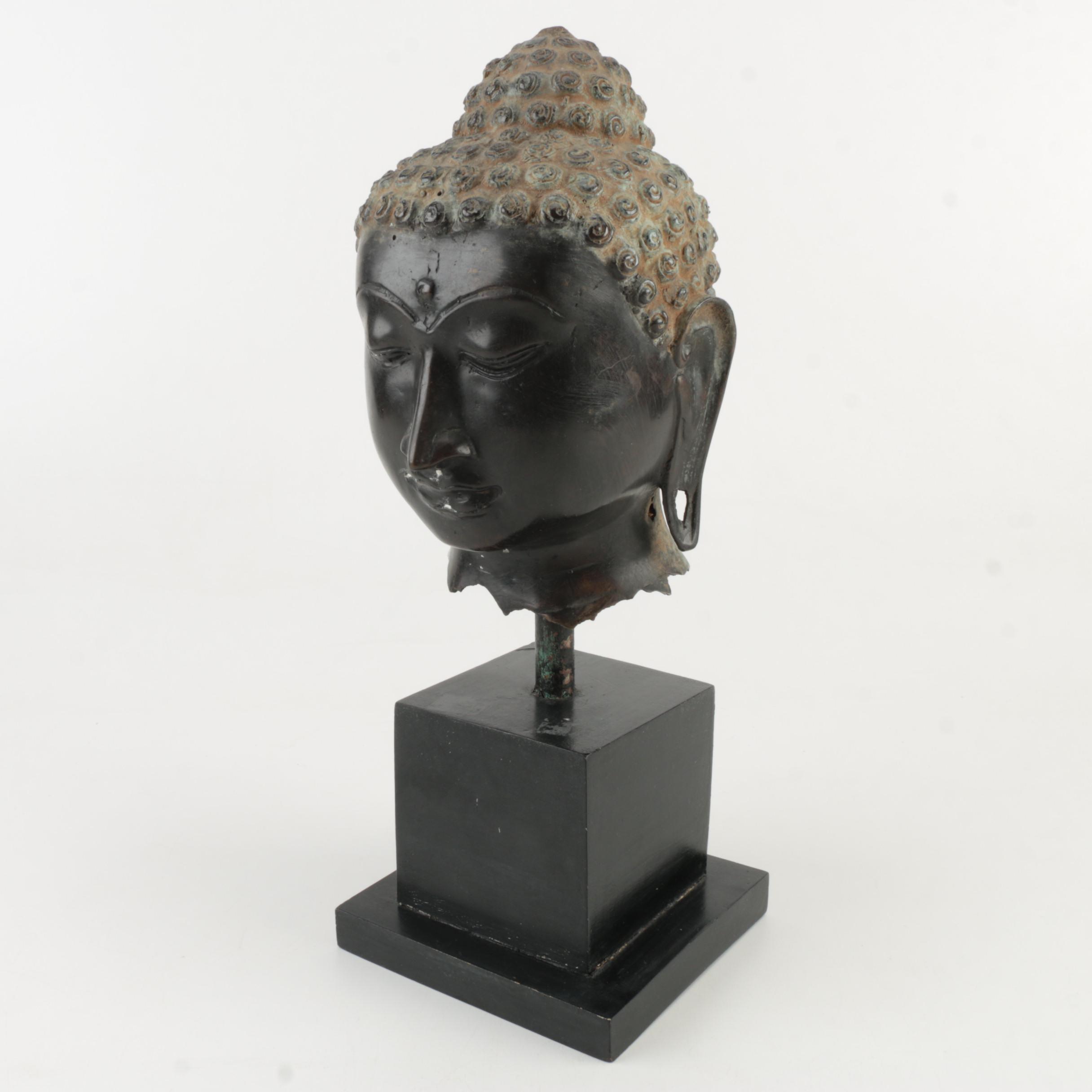 Buddha Head and Stand