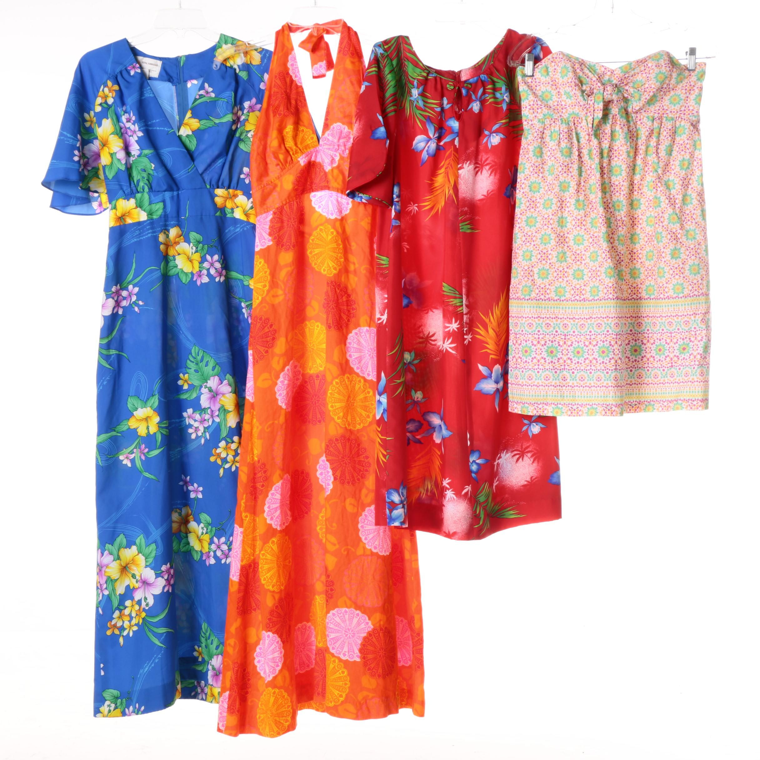 Women's Floral Dresses Including Royal Hawaiian