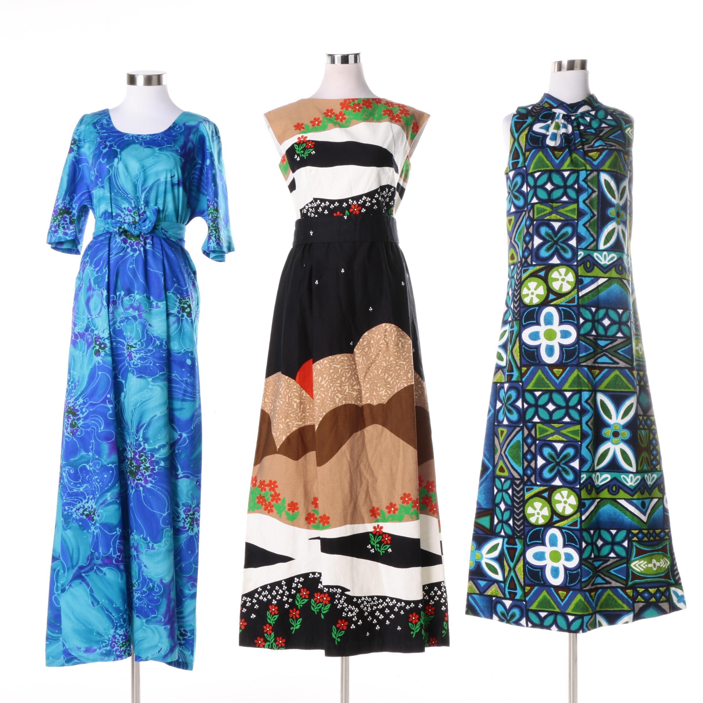 Women's Vintage Hawaiian Dresses