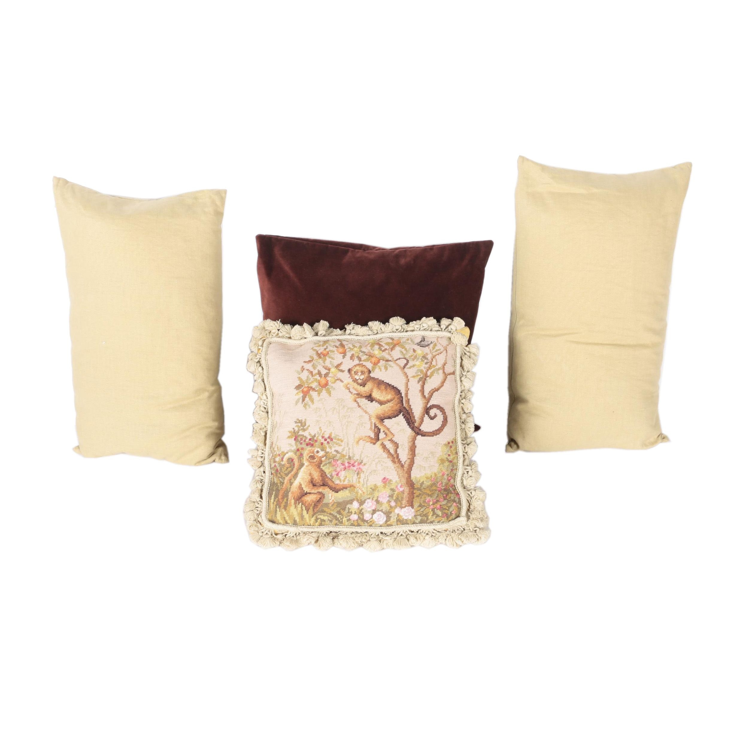 Decorative Needlepoint Pillow and Other Accent Pillows