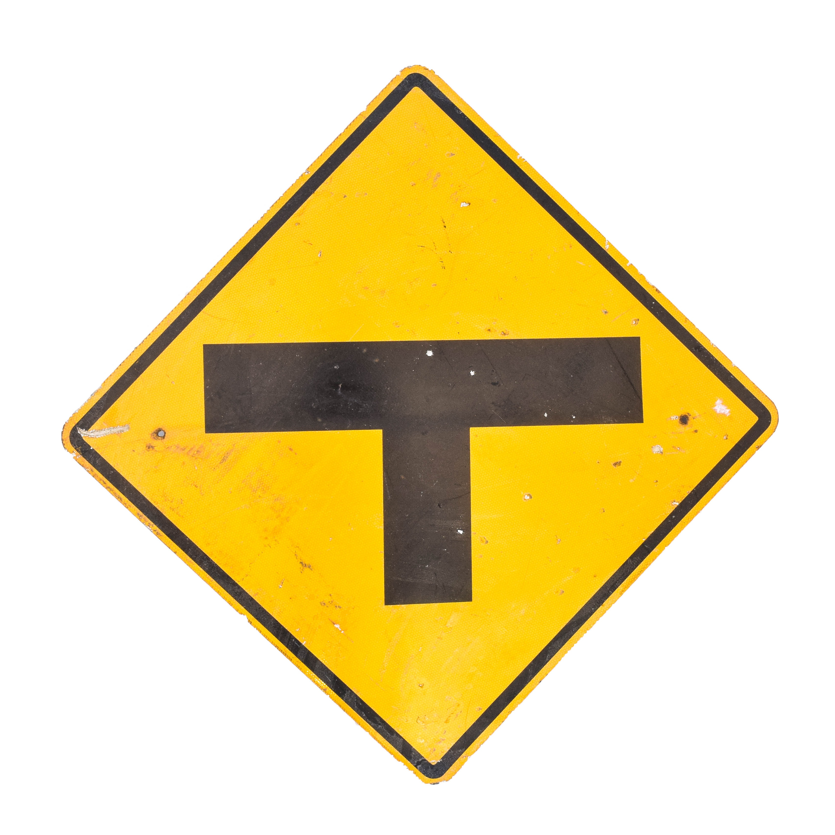 "Vintage ""T Junction"" Traffic Warning Sign"