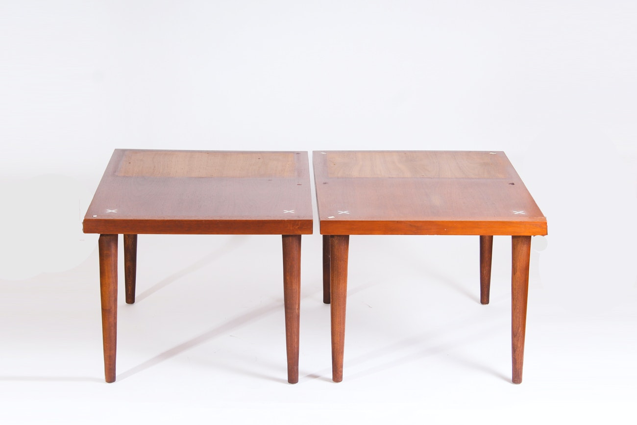 Pair of Mid Century Modern Step Tables