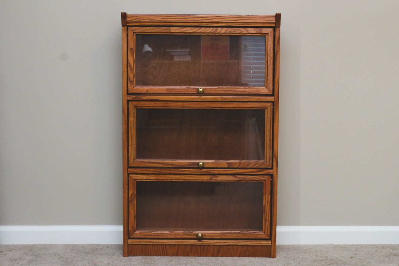 Vintage Wooden Miniature Barrister Bookcase