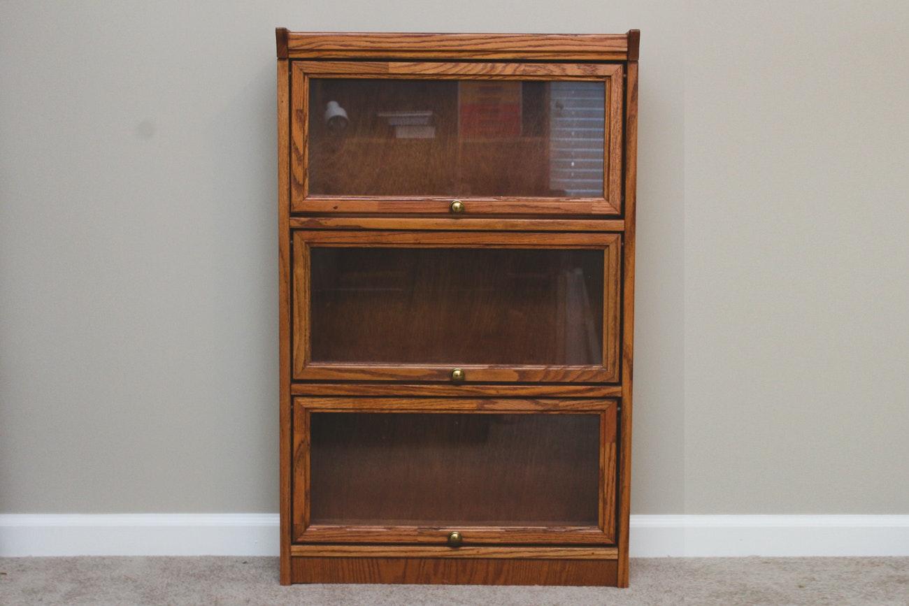 Vintage Wooden Barrister Bookcase