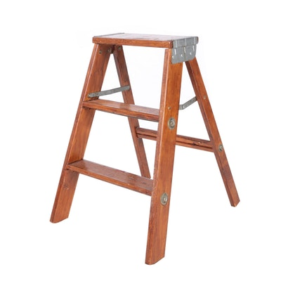 wooden step ladder - Wooden A Frame Ladder