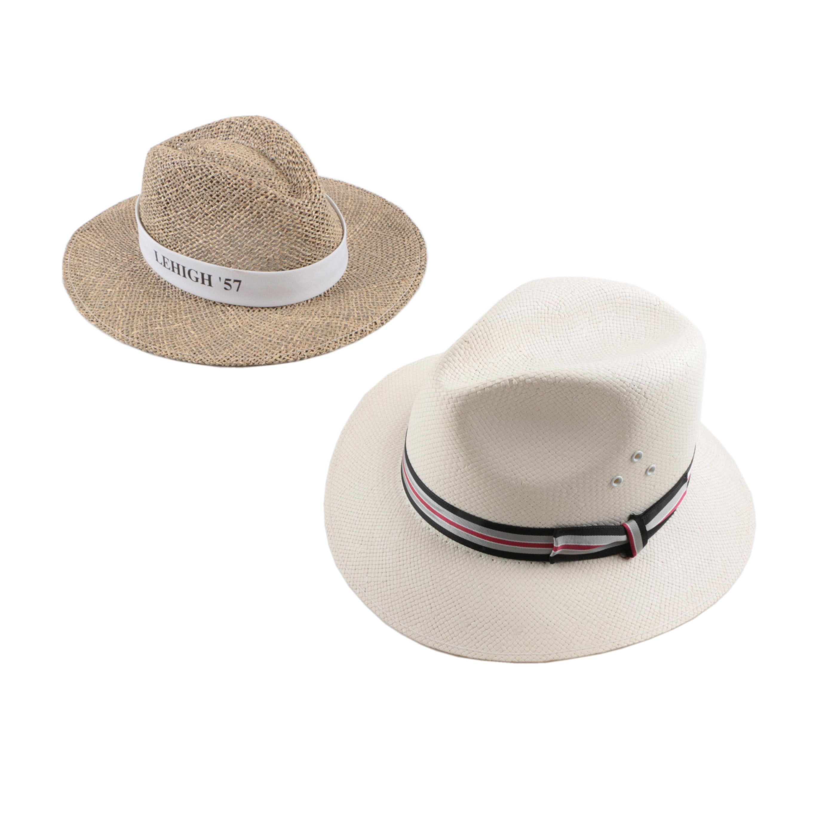Men's Woven Straw and Paper Fedoras