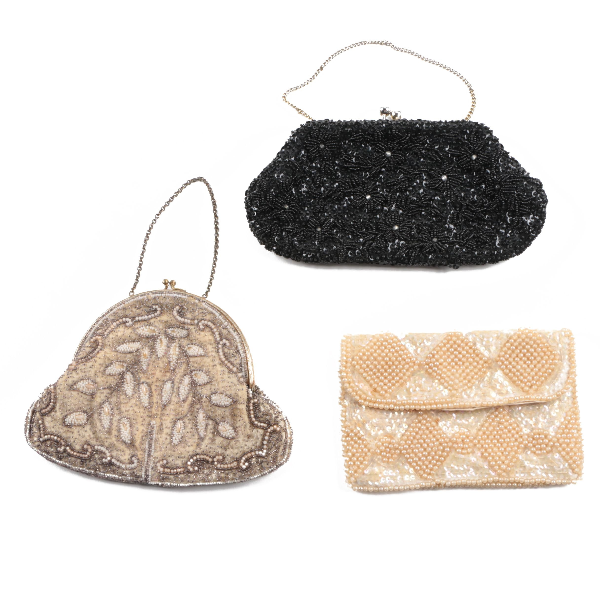 Circa 1950s Vintage Embellished Occasion Handbags
