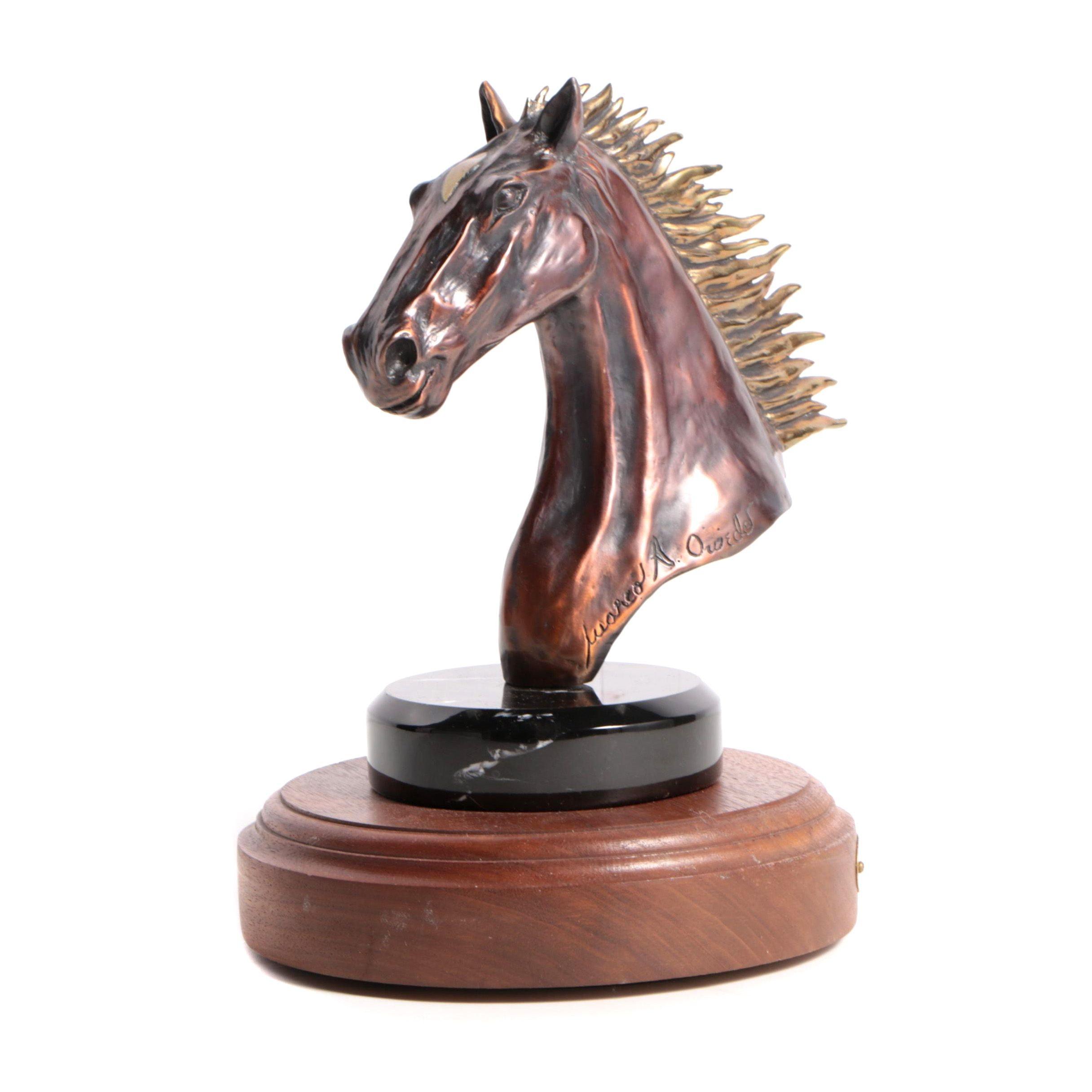 "Marco A. Oviedo Limited Edition Bronze Sculpture ""Free Spirit"""