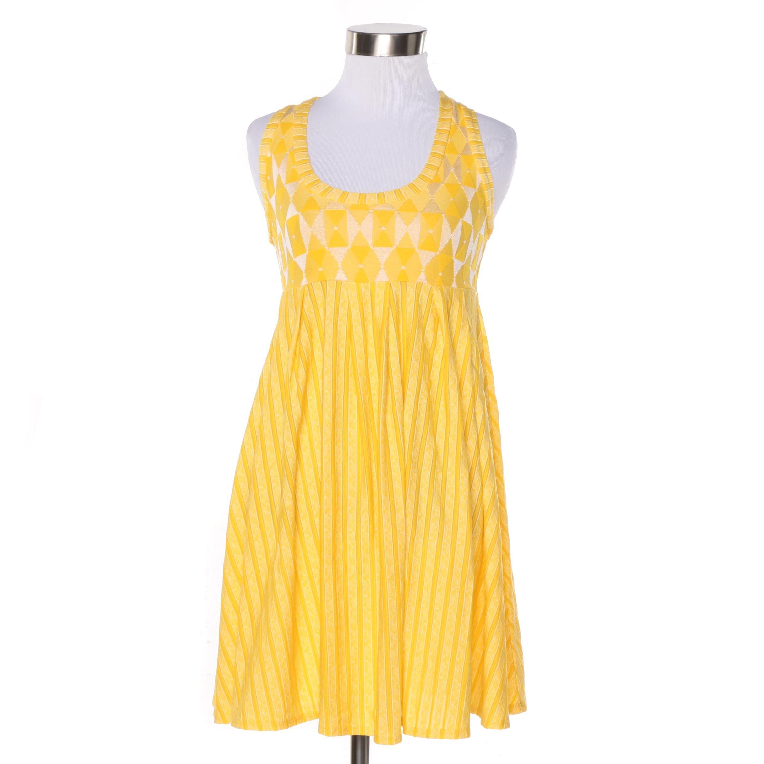 Becca by Rebecca Virtue Yellow Knit Sleeveless Dress
