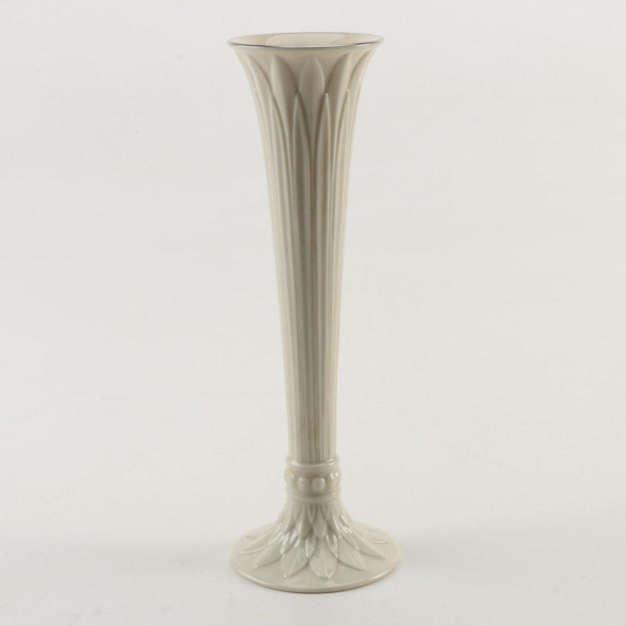 Vintage Lenox Fluted Porcelain Bud Vase Ebth