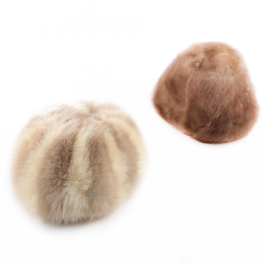 Vintage Cecile Original and Regency Mink Fur Hats   EBTH fbf4206573b