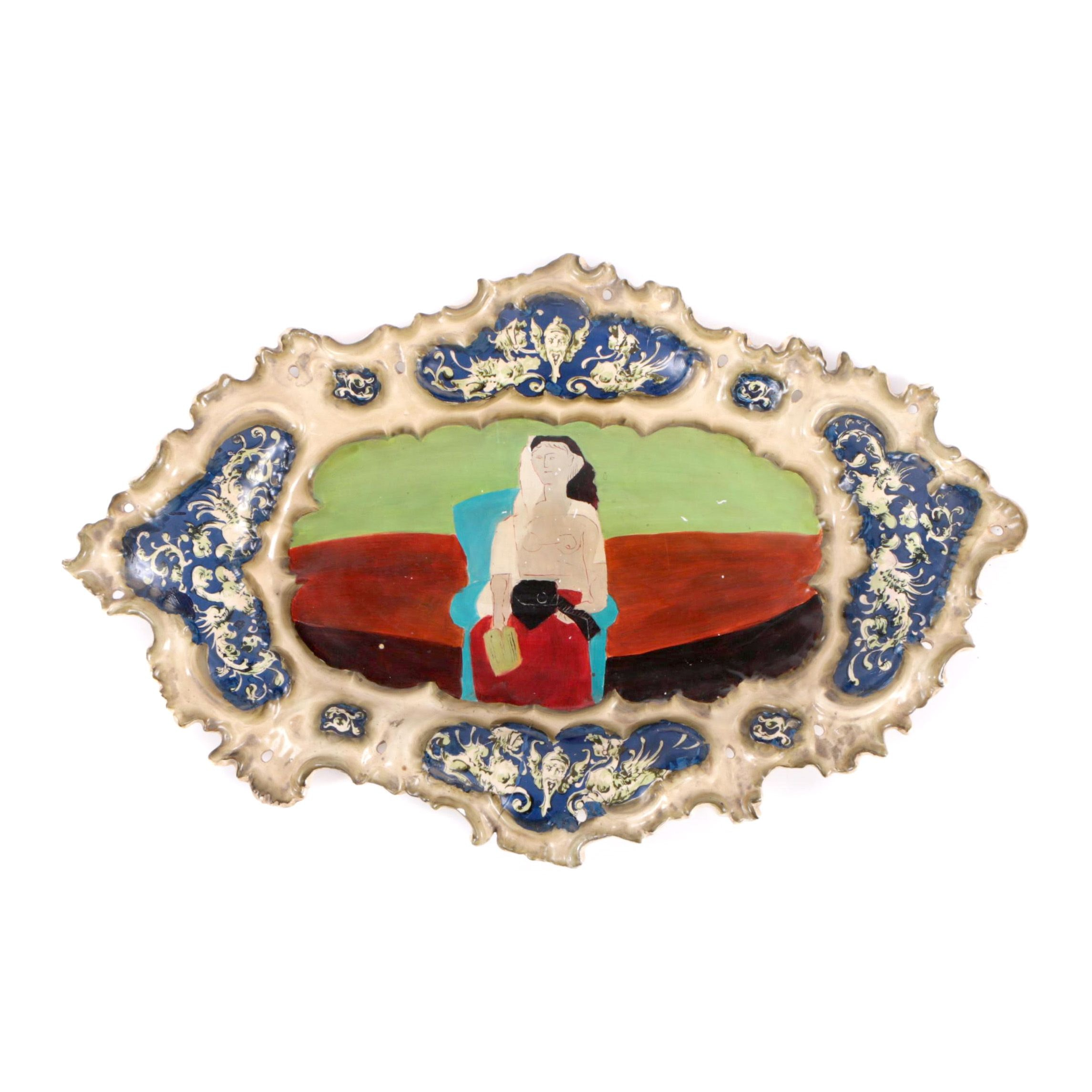 """Vintage After Picasso """"Femme Assise"""" Decorative Plate"""