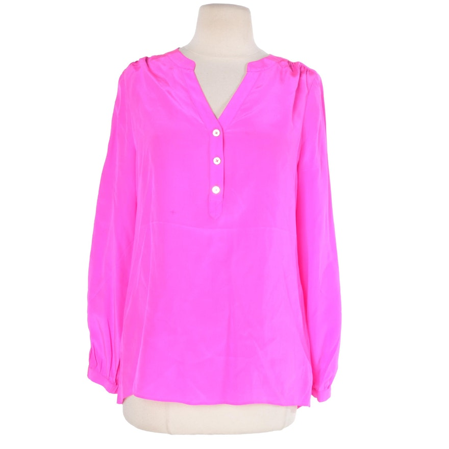 7caaf3b18e031a Lilly Pulitzer Pink Silk Blouse   EBTH