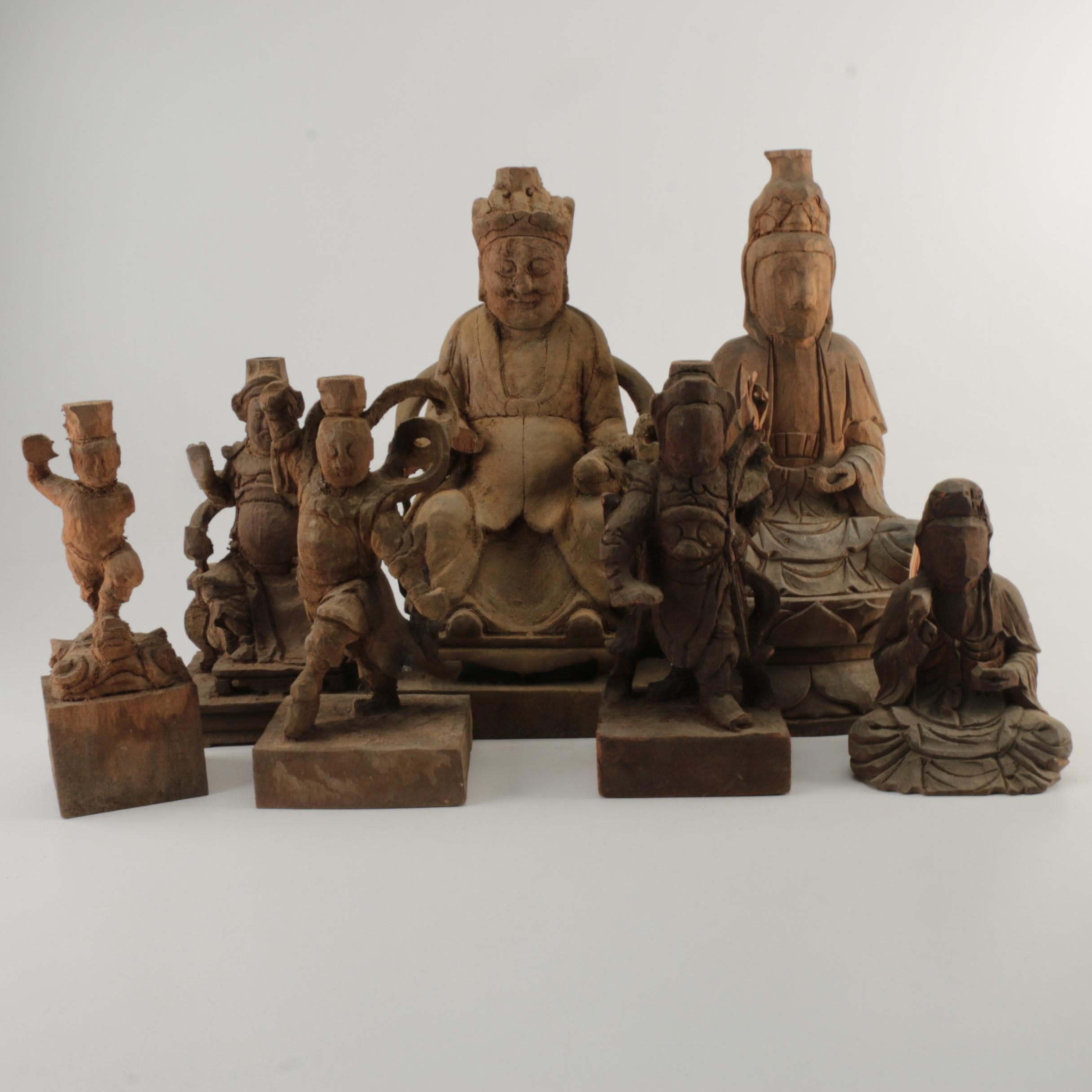 Antique and Vintage Chinese Wood Sculptures