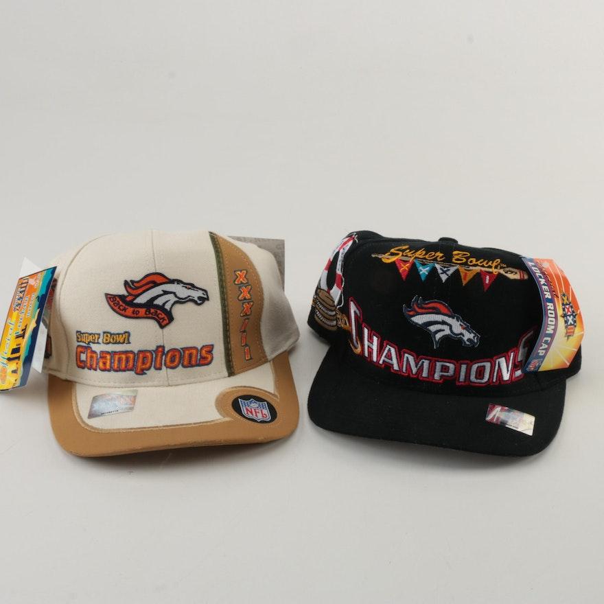 baafcbc7 Super Bowl XXXII and XXXIII Denver Broncos Hats