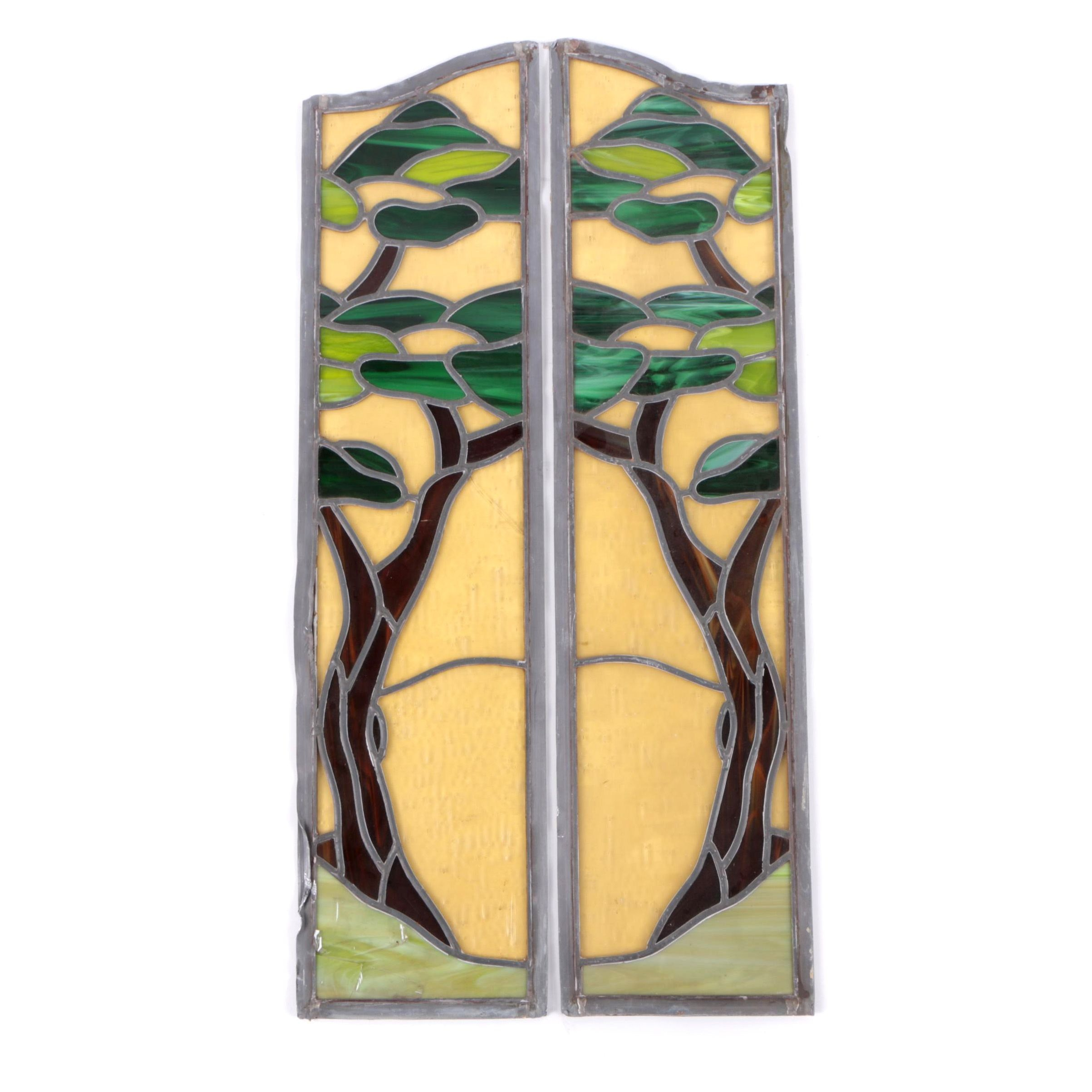 Stained Glass Panels of Trees
