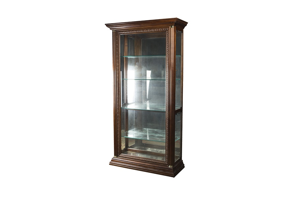 Pulaski Furniture Walnut Curio Cabinet