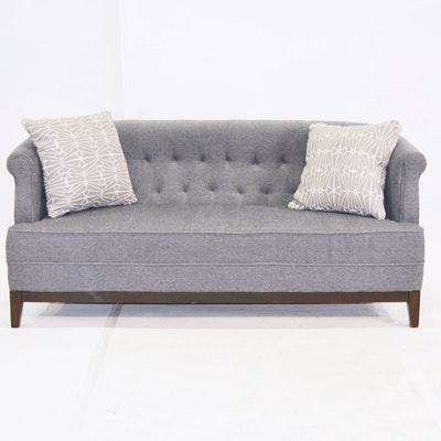Gray Tufted Back Sofa ...