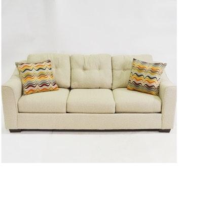 Corinthian Beige Upholstered Sofa ...
