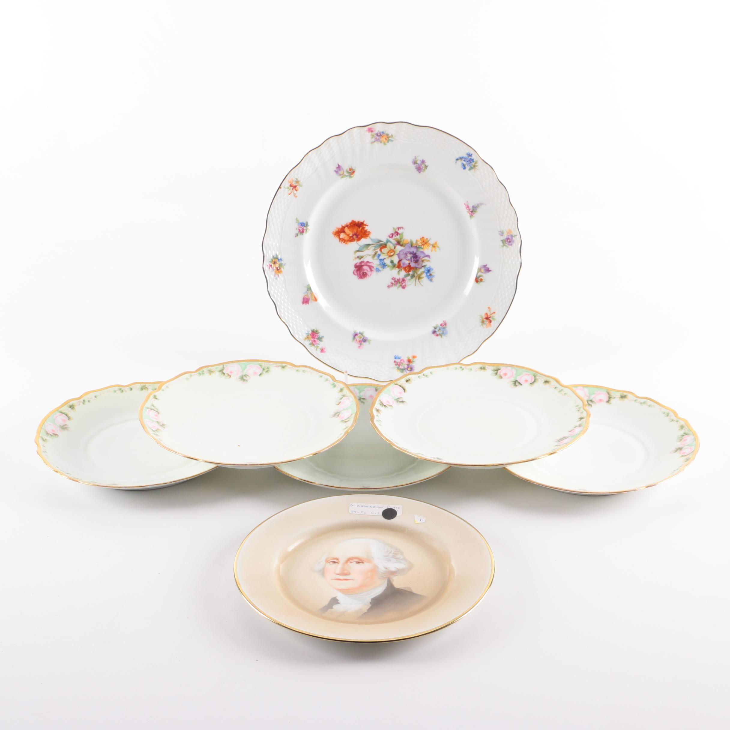 Vintage Porcelain Plates Including Hermann Ohme