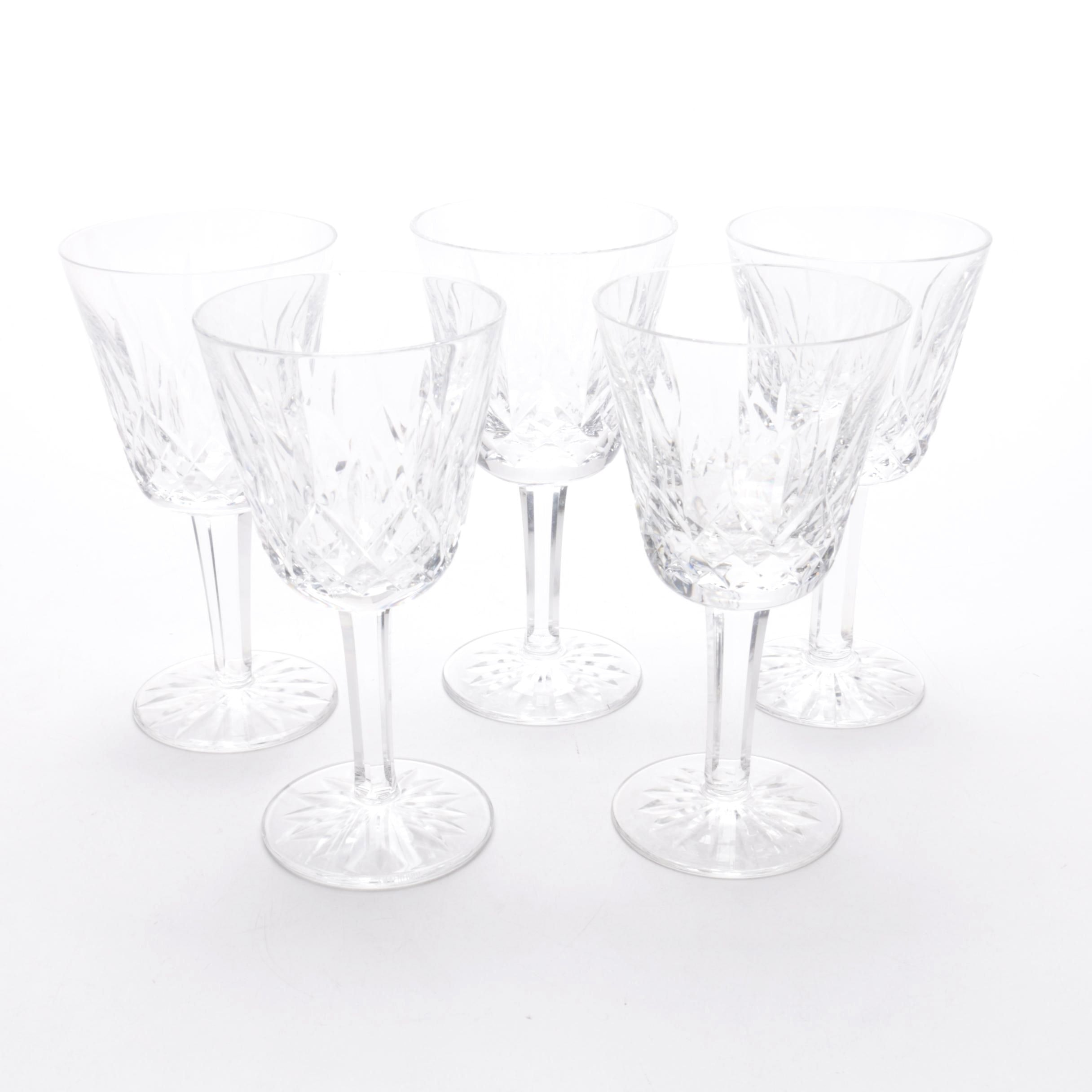 "Waterford Crystal ""Lismore"" Claret Wine Glasses"