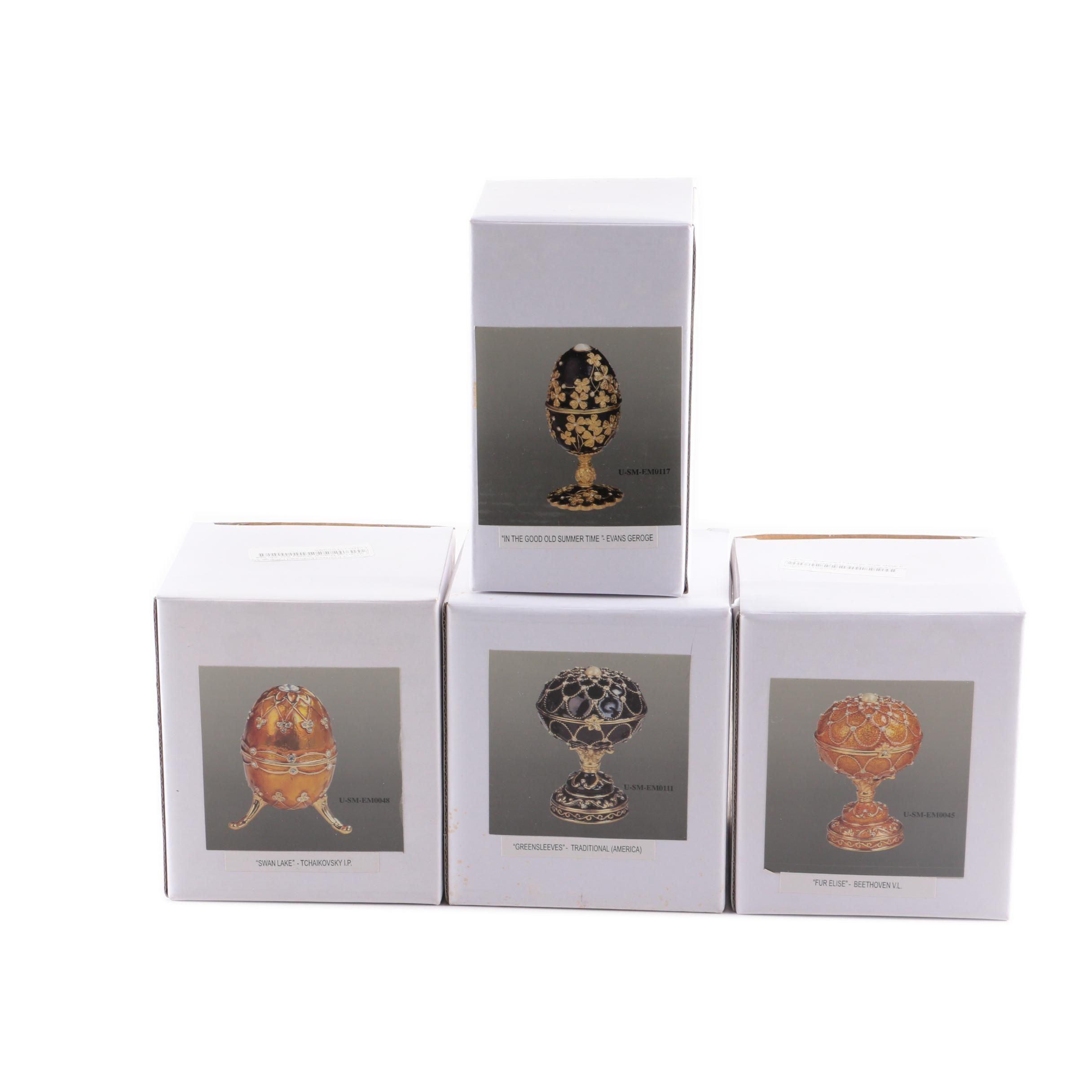 Fabergé Style Egg Music Boxes