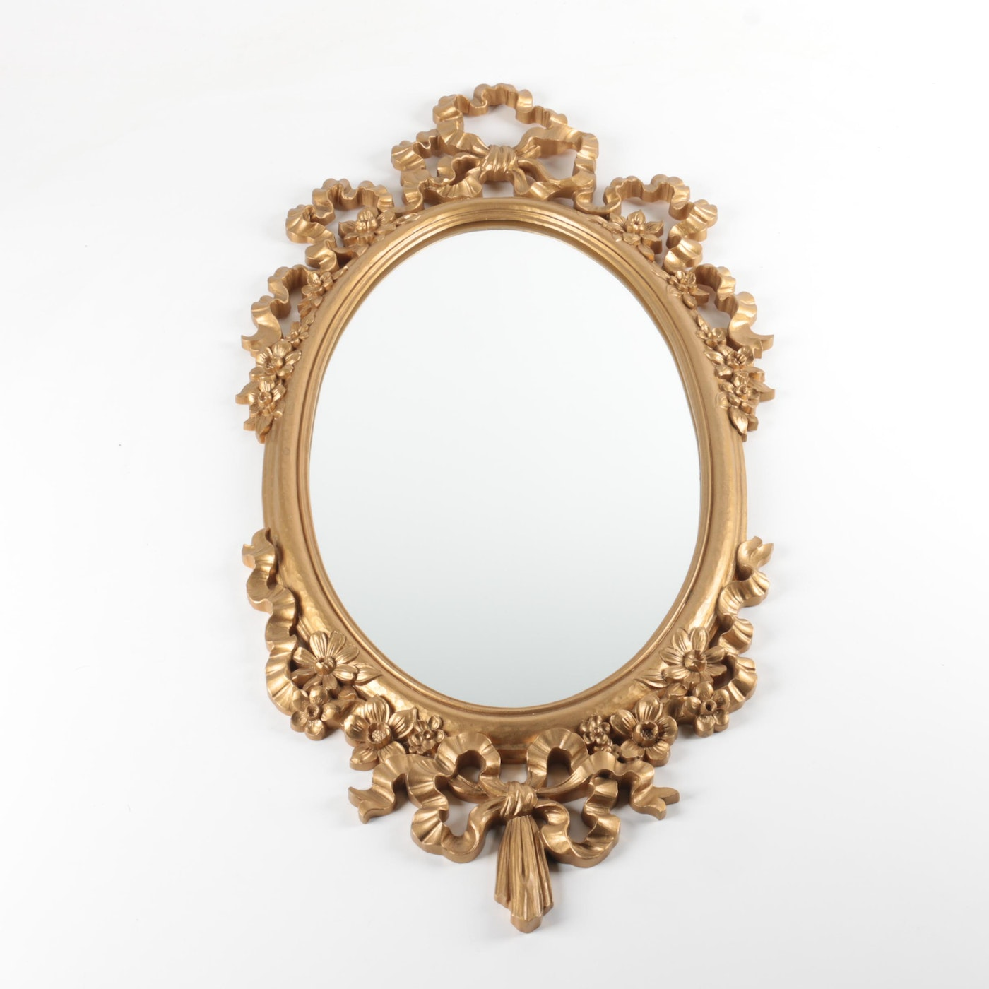 Oval wall mirror with ornate gold frame ebth for 4 x 5 wall mirror