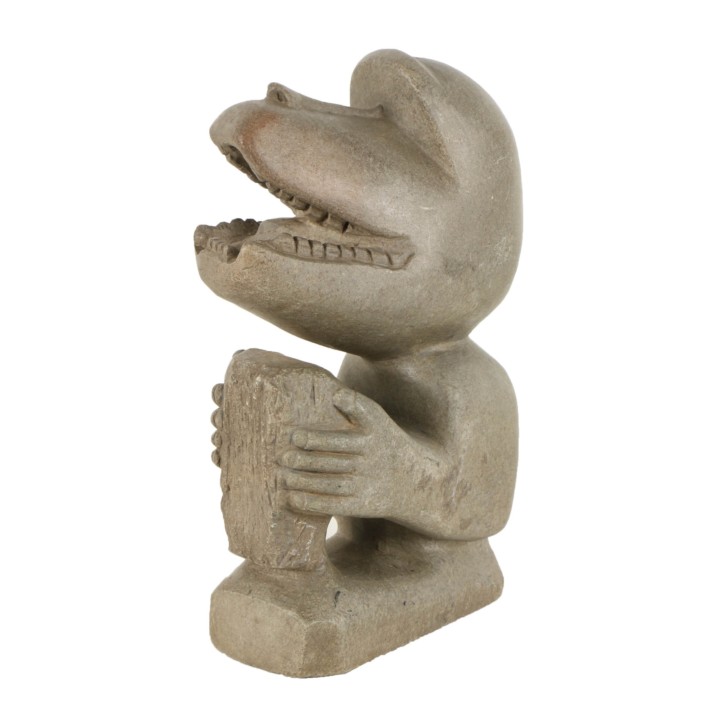 East African Style Soapstone Carving of Baboon