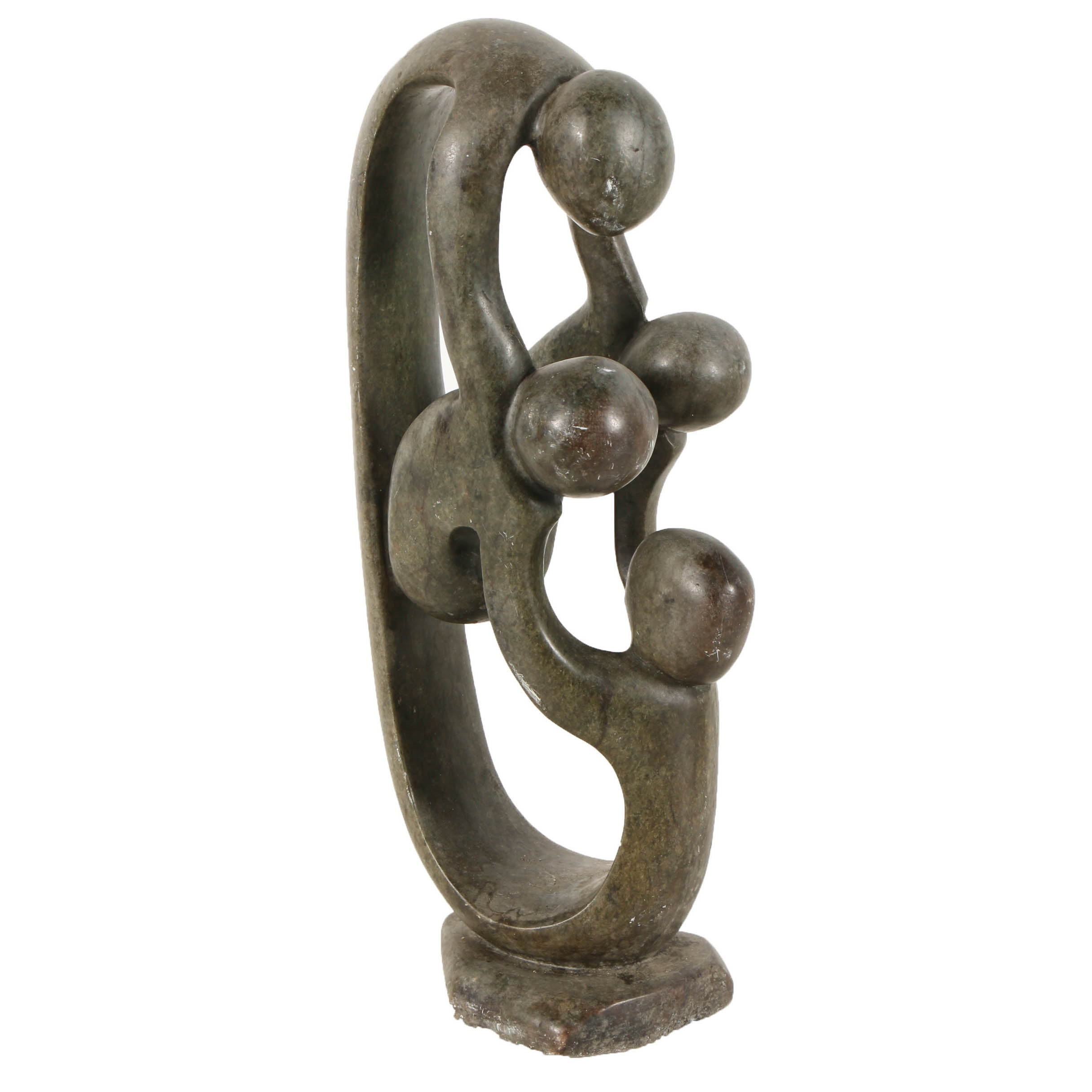 East African Style Soapstone Carving of Four Figures