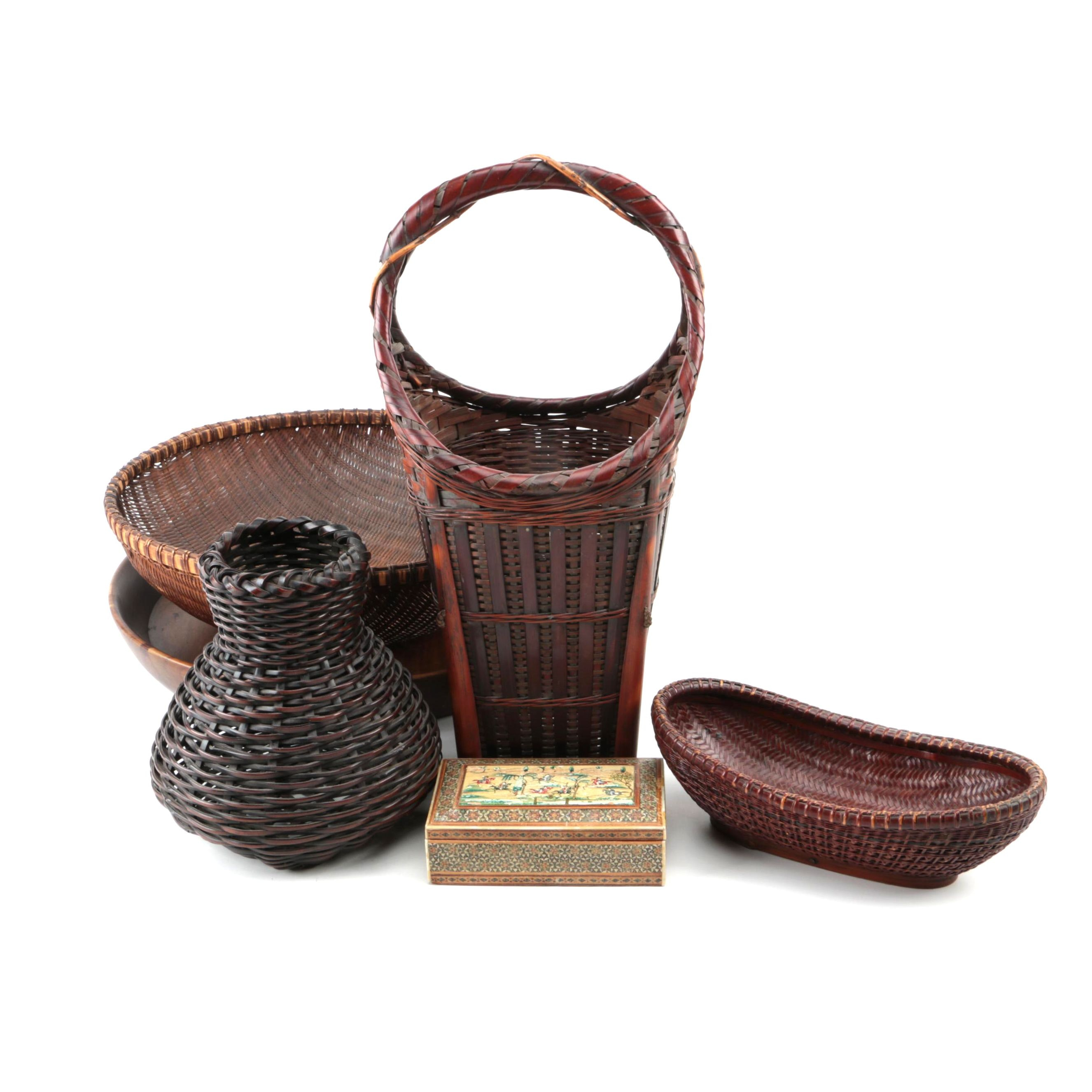 Collection of Baskets and Decorative Items