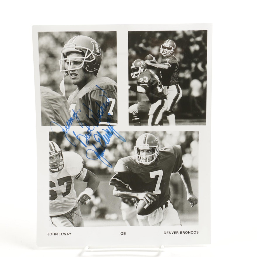 1c50ee291 John Elway Autographed Off-Set Lithograph Photograph Collage   EBTH
