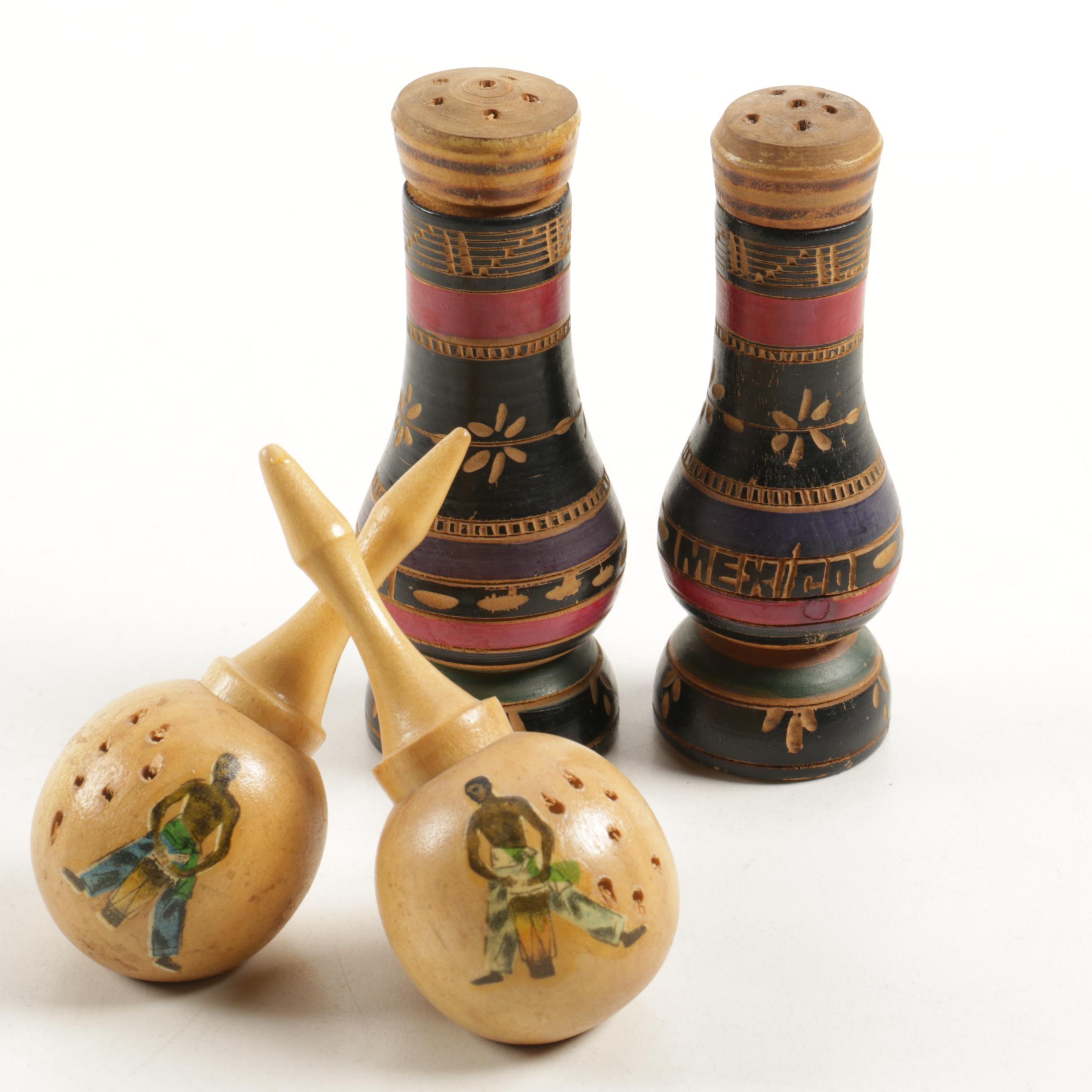 Handmade Wooden Salt and Pepper Shakers