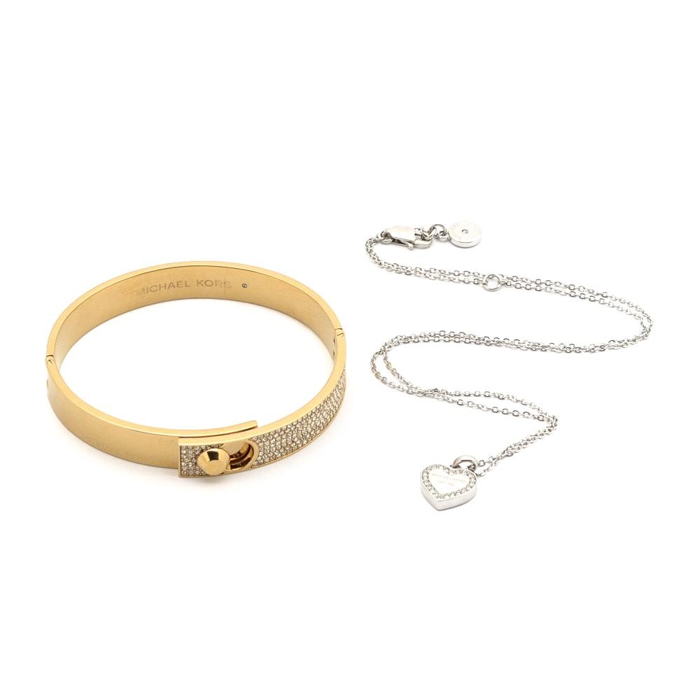 Michael Kors Designer Bracelet and Necklace