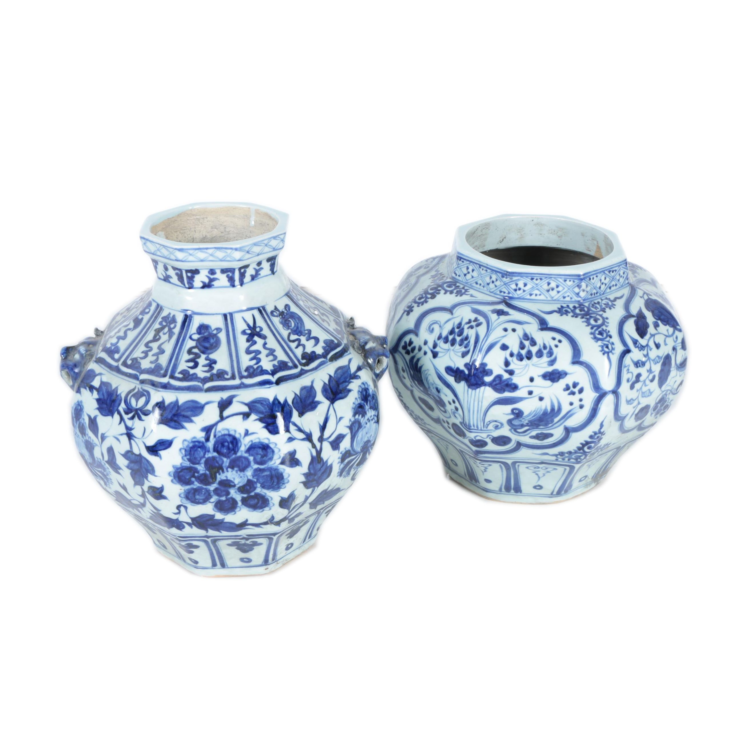 Blue and White Chinese Ceramic Vases