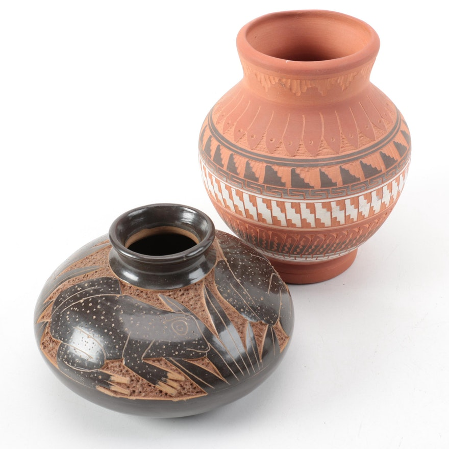 Navajo And Native American Style Vases Ebth