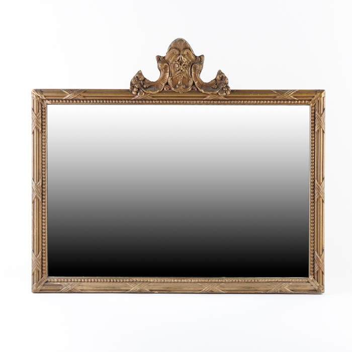 Vintage Louis XV Style Gilded Wall Mirror
