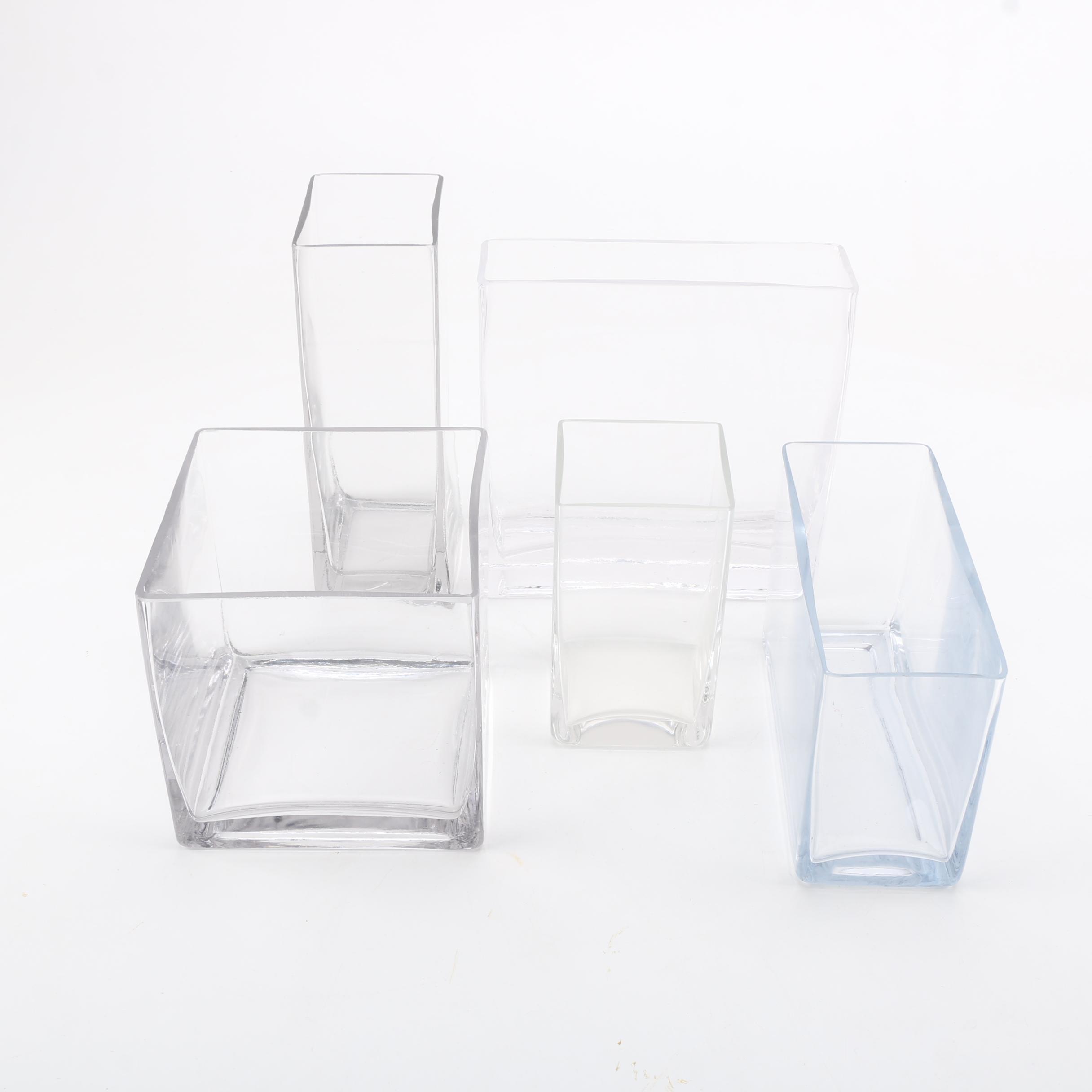 Contemporary Square Glass Vases