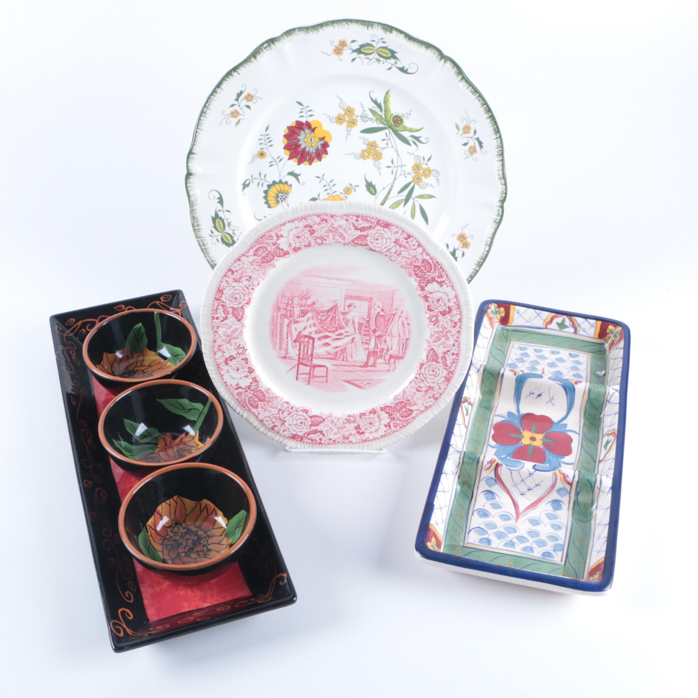Porcelain Tableware including Sarrreguemines