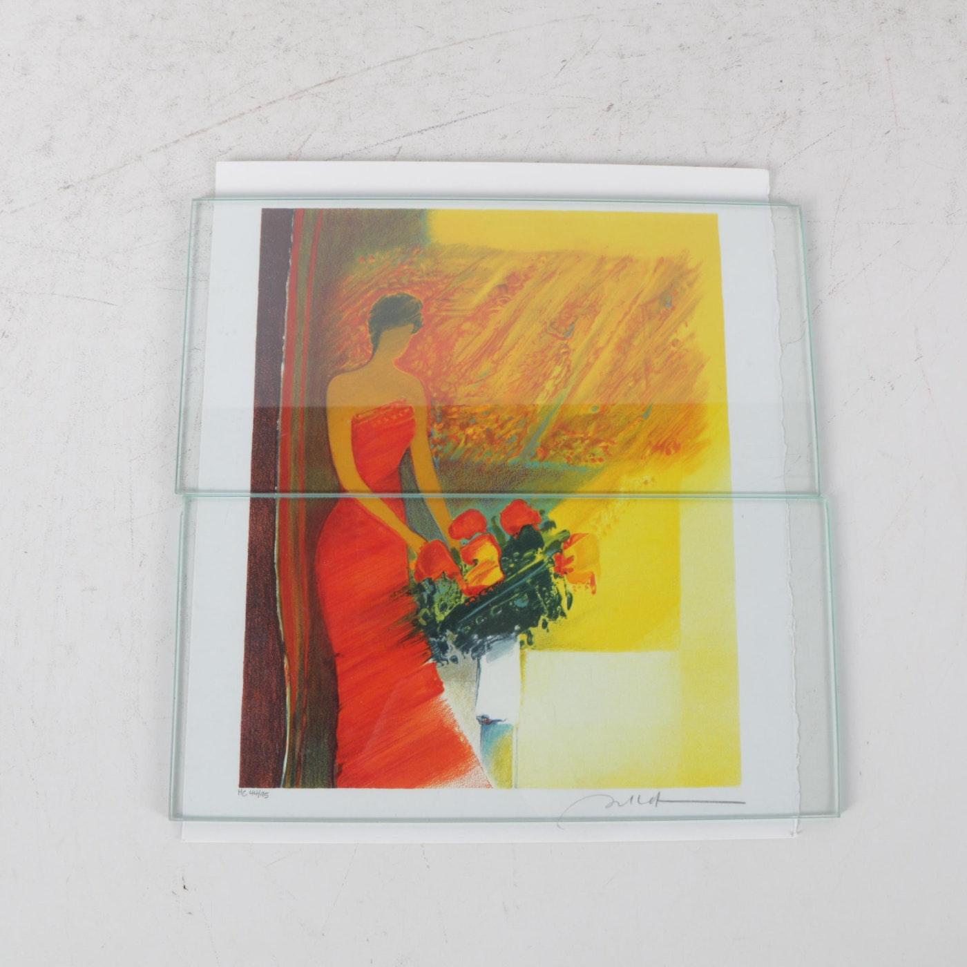 Emile bellet hors commerce color lithographs on paper ebth for Emile bellet interieur