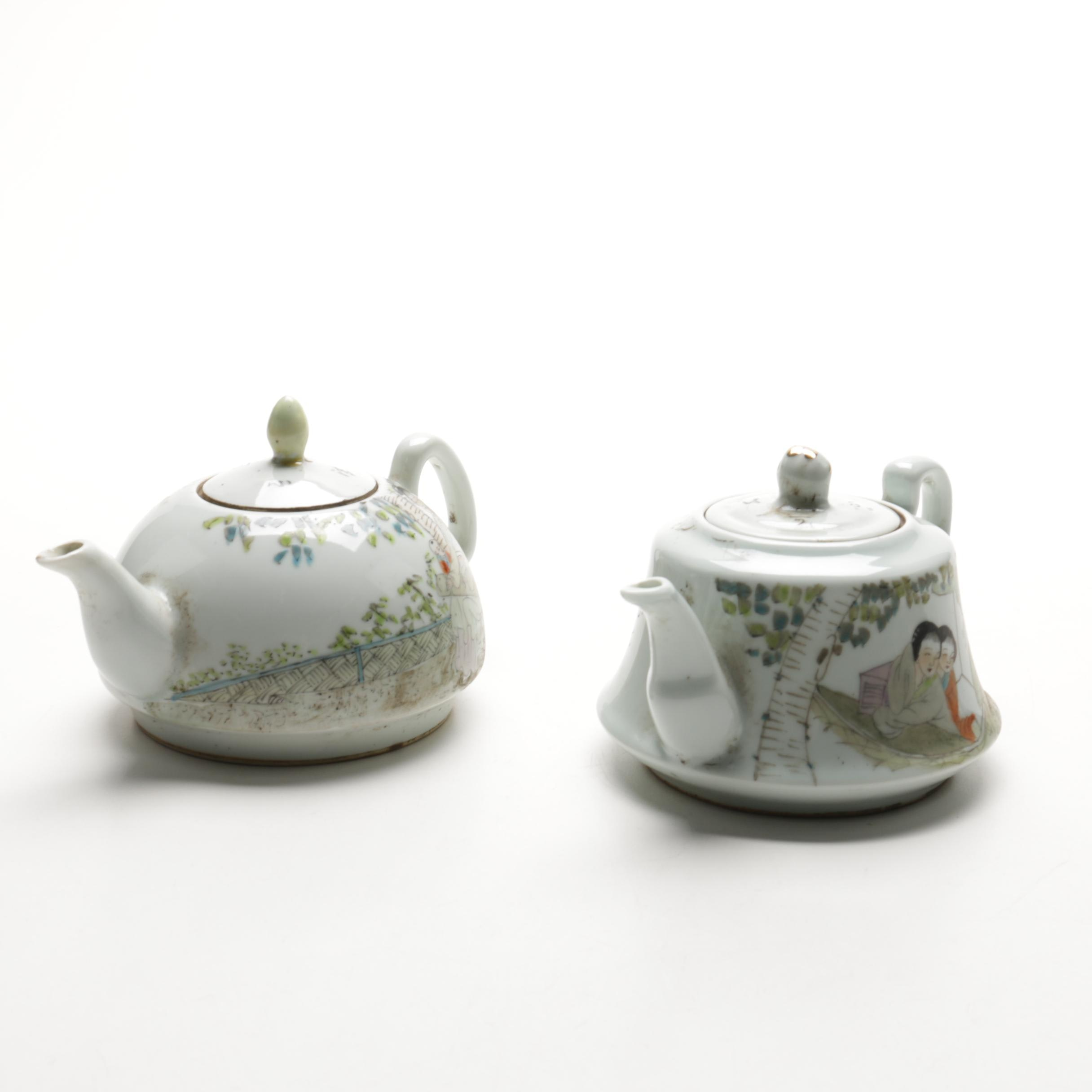 Hand-painted Chinese Porcelain Teapots