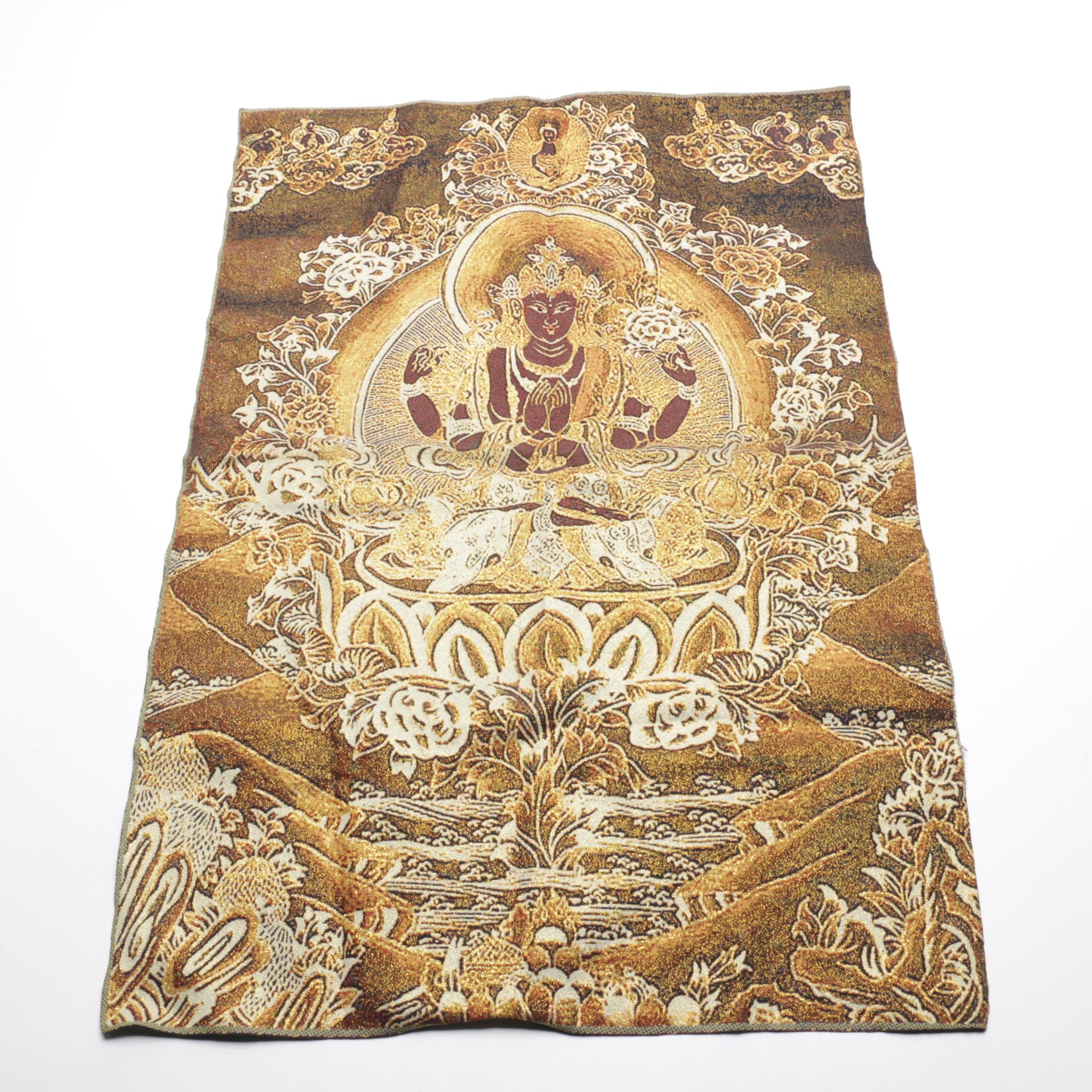 Chinese Buddhist Woven Tapestry