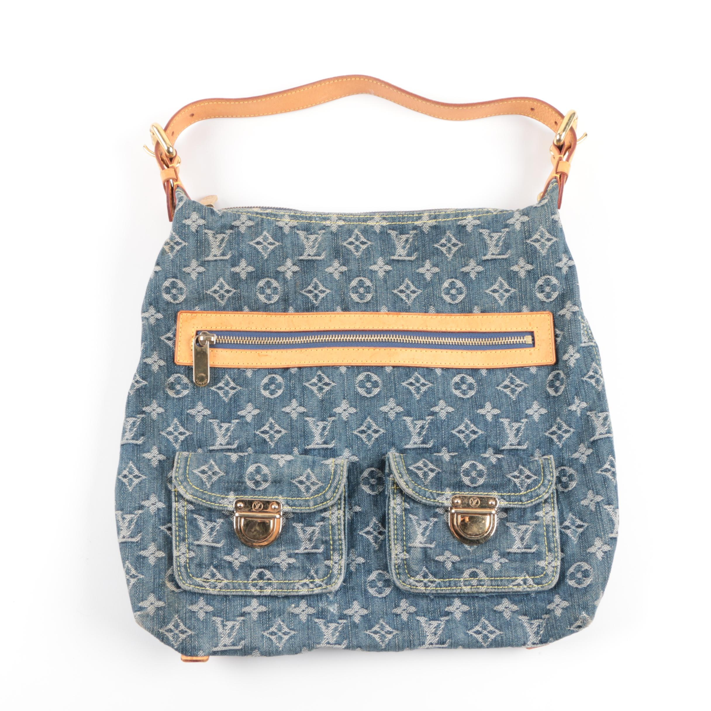 Louis Vuitton Blue Monogram Denim Baggy GM Bag