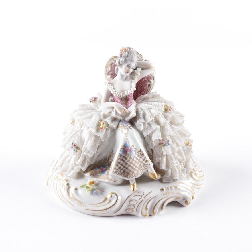 San Marco Dresden Lace Porcelain Figurine : EBTH
