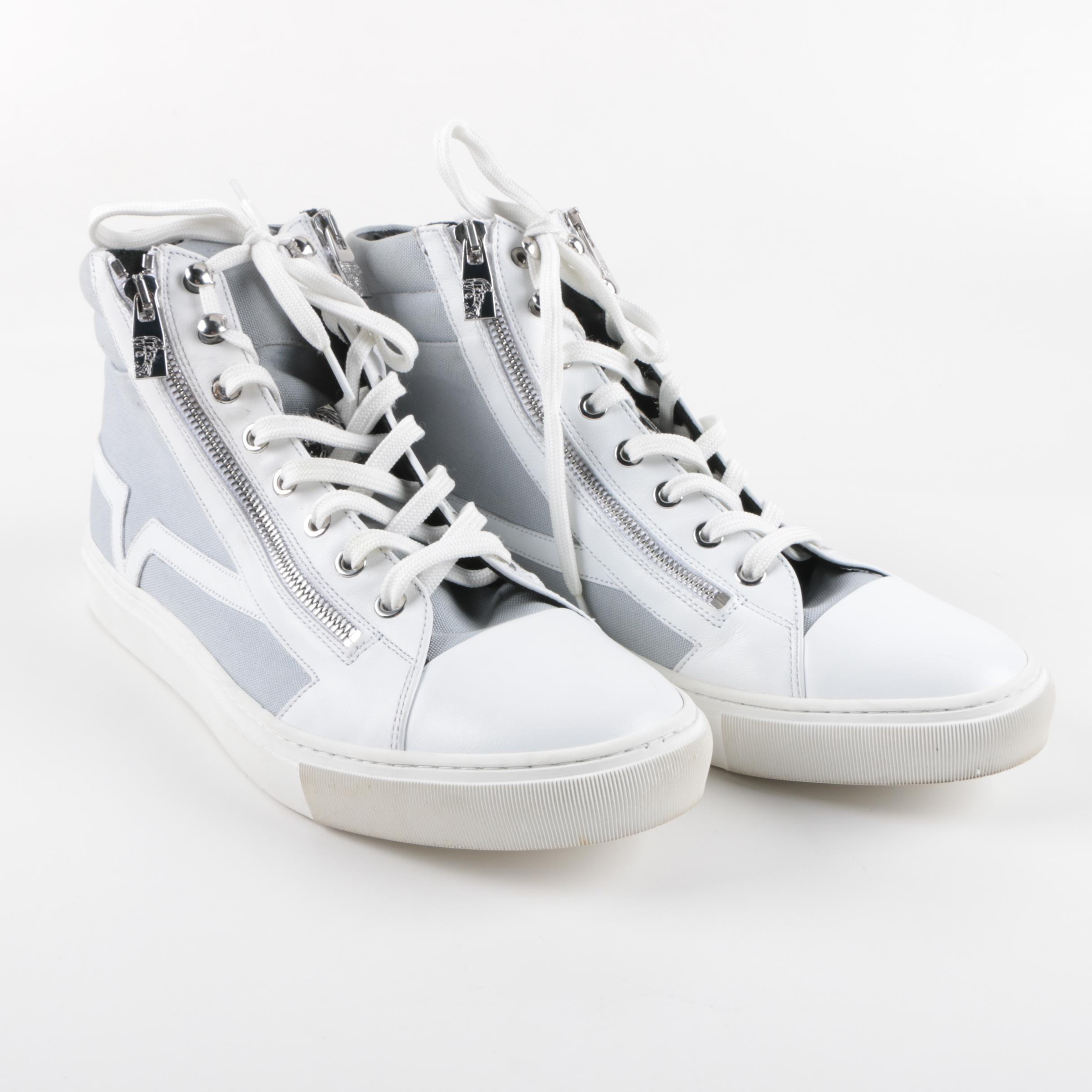 Men's Versace Collection High Top Sneakers