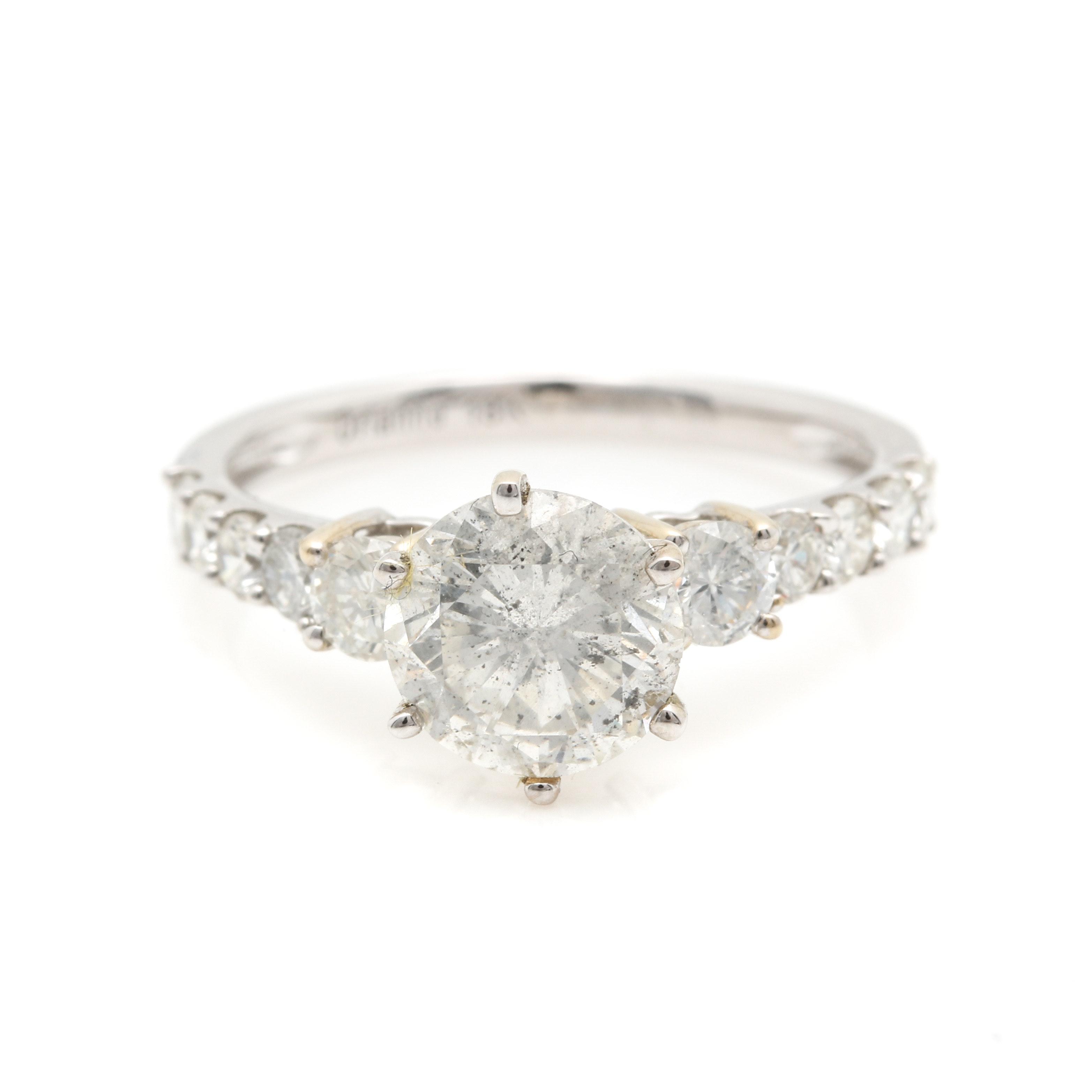 18K White Gold 2.40 CTW Diamond Ring